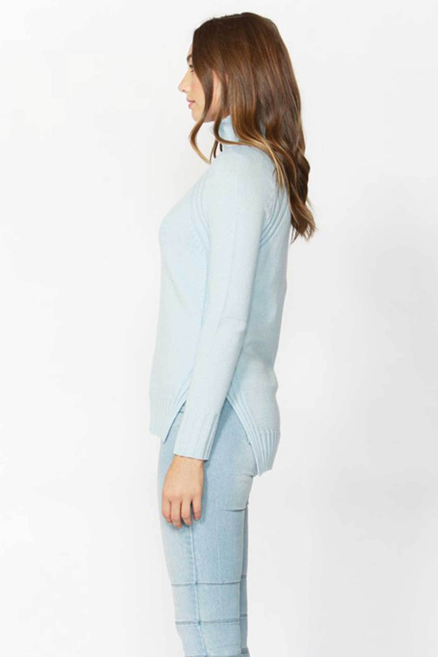 Shop Online Night In Cowl Knit in Ice Blue by Sass  Frockaholics Tops