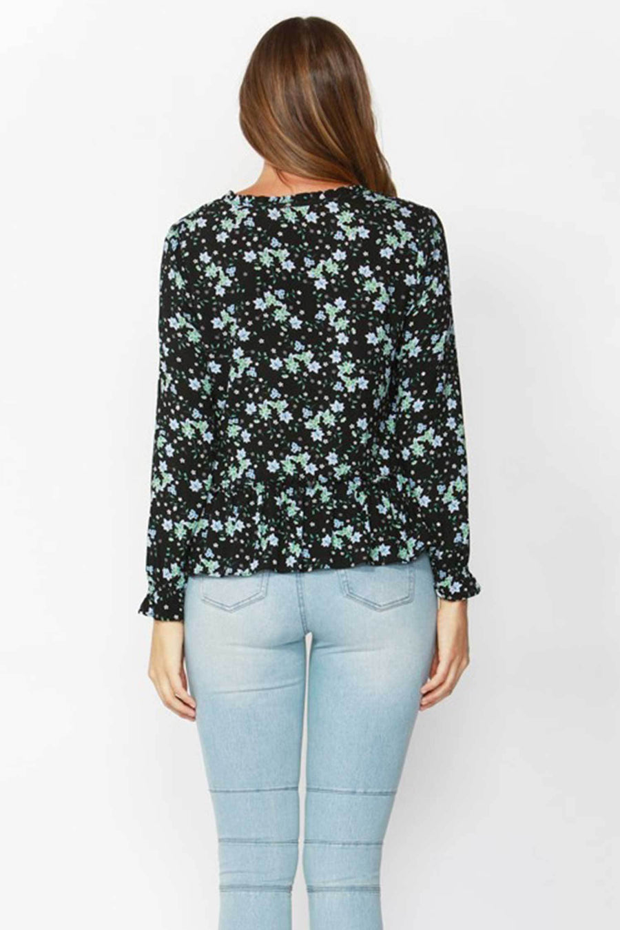 Shop Online Winter Forest Frill Blouse by Sass  Frockaholics Tops