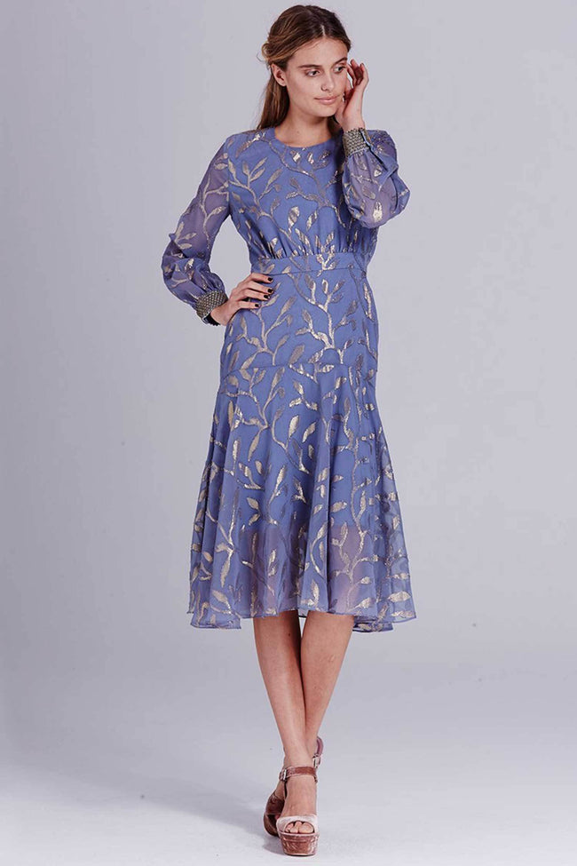 Shop Online Luella Leaf Dress in Steele by We Are Kindred  Frockaholics Dresses