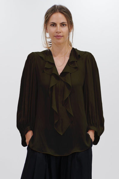 Wave Blouse in Acorn Tops Mela Purdie