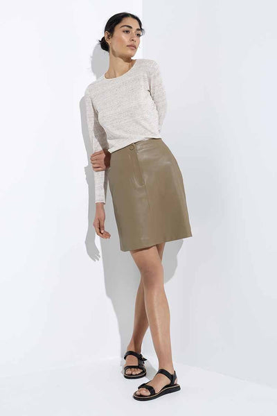 Waves Skirt in Cocoa Bottoms Elka Collective