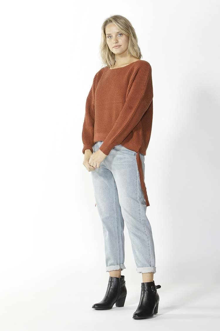 Wembley Knit Sweater in Toffee