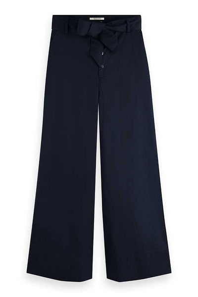 Wide Leg Chinos in Night Bottoms Maison Scotch