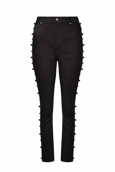 Working Pearl Jeans in Black Bottoms Curate