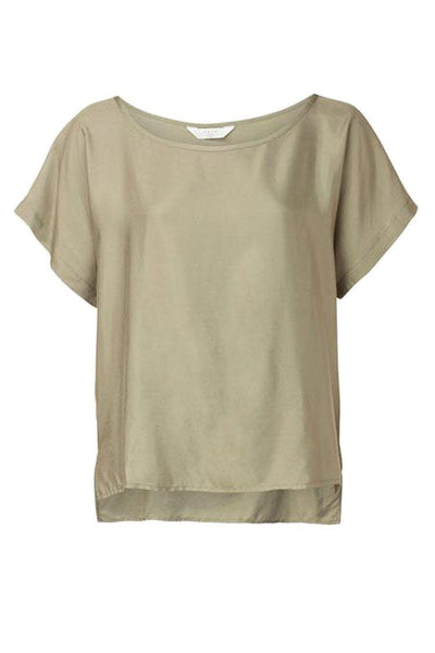 Woven Top in Sage Tops Yaya