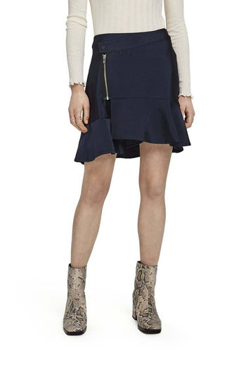 Wrapover Mini Skirt w Peplum