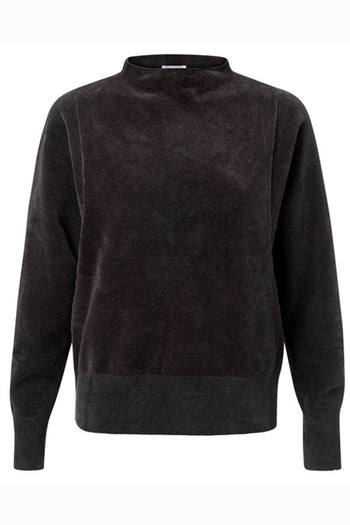 Soft Mock Neck Knit in Antracite