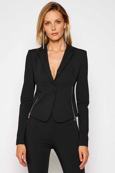 Zip Side Blazer in Black Jackets & Outerwear Patrizia Pepe