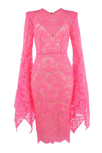 The Alaroy Lace Long Sleeve Lady Dress With Slip by Alex Perry