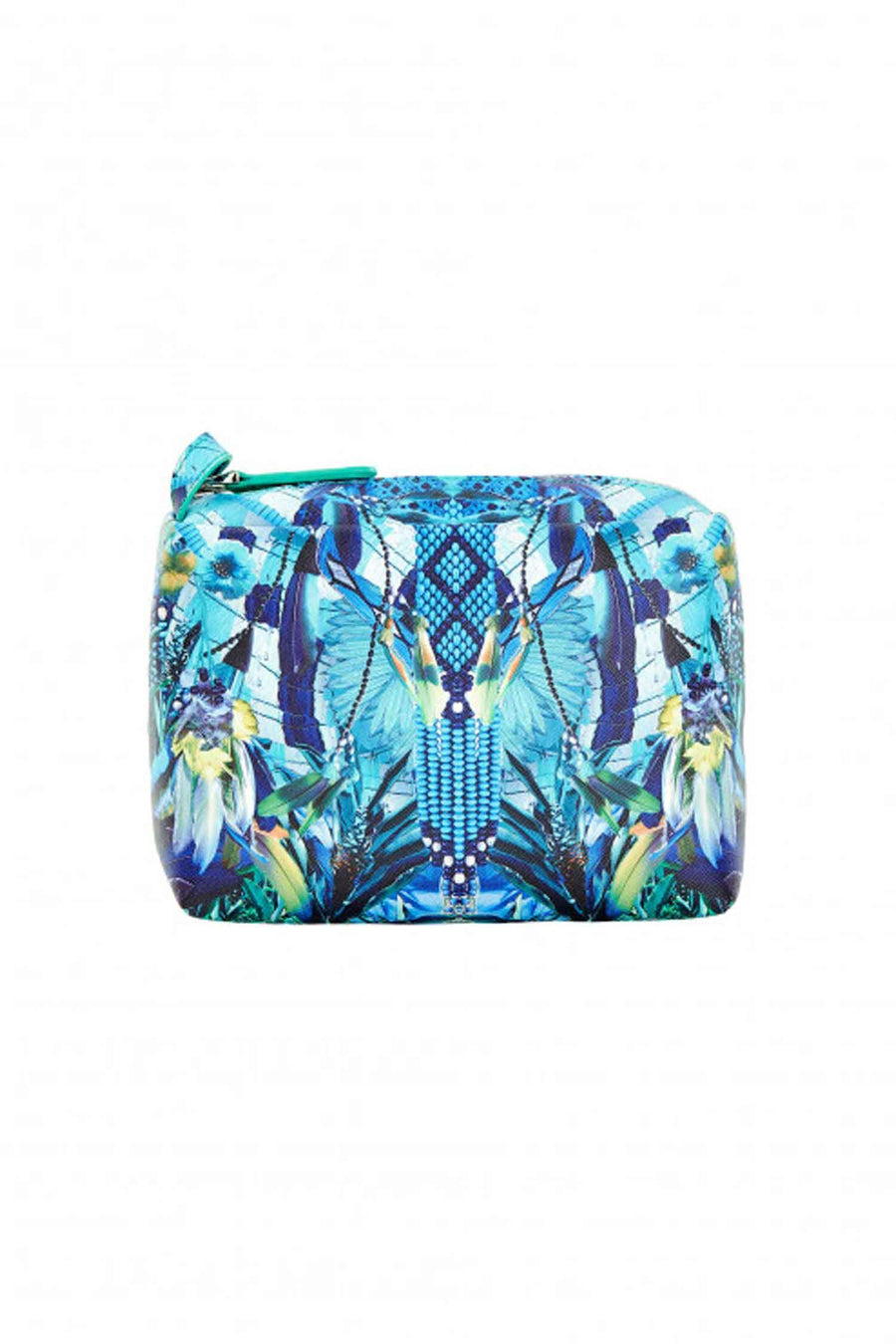 Small Makeup Bag in Amazon Azure