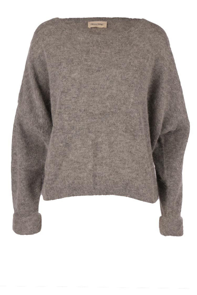 Mitibird Boat Neck Jumper in Grey Melange