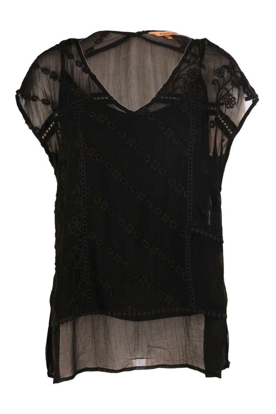 Multi embroidered V Neck by Armoire Frockaholics.com