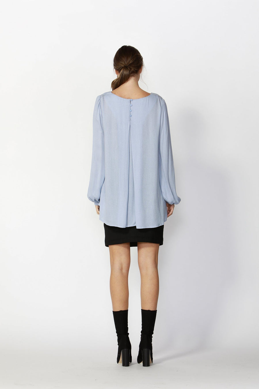 Secret Paradise Blouse in Pale Blue