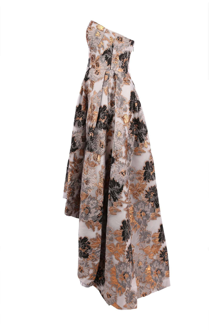 Angie Bustier Metallic Print Gown