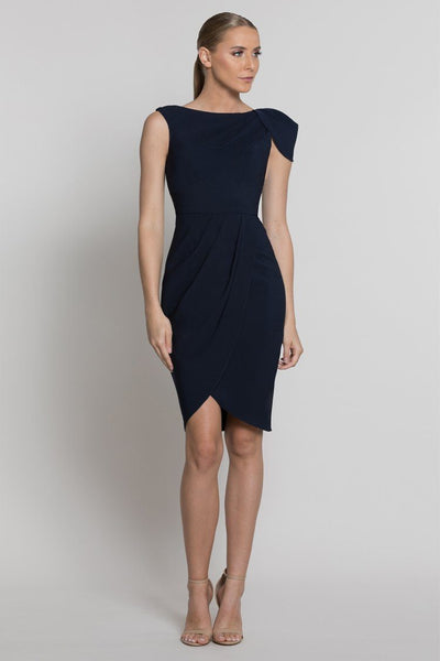 Nala Drape Cape Sleeve Dress Dresses Bariano