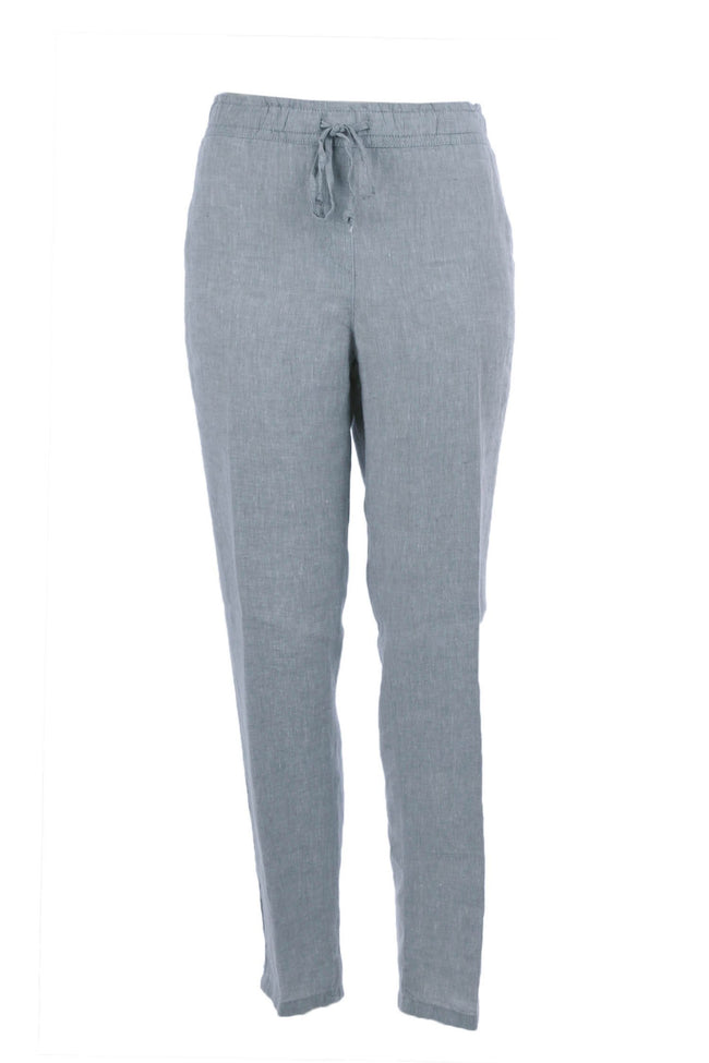 Morris Linen Pants in Grey