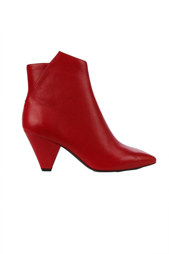 Nappa Ankle Boot in Rosso | FINAL SALE
