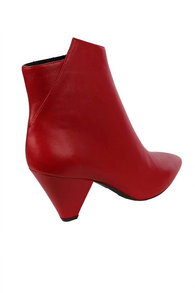 Nappa Ankle Boot in Rosso