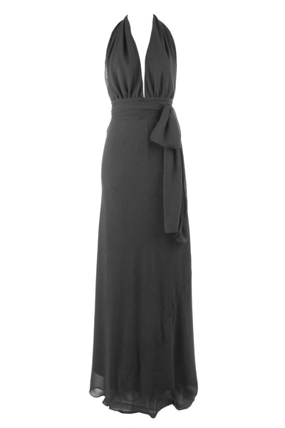 Cameo in Charcoal | Poly Georgette Dresses Lucy Laurita - Leiela