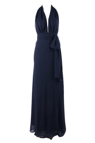 Cameo in Navy | Poly Georgette Dresses Lucy Laurita - Leiela