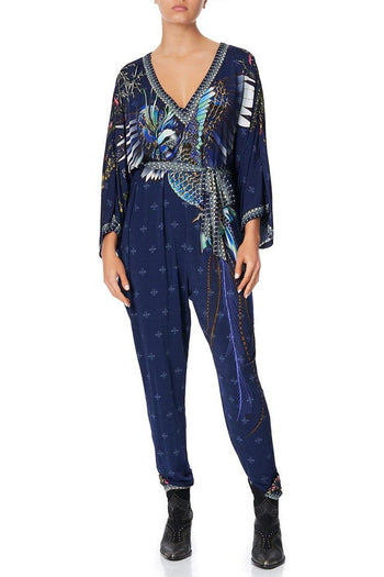 Jersey Bat Sleeve Jumpsuit in Southern Twilight