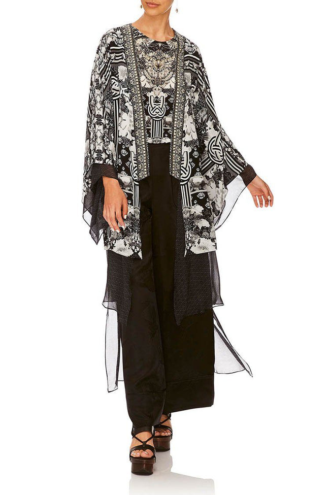 Kimono W/Long Underlay in Wild Moonchild