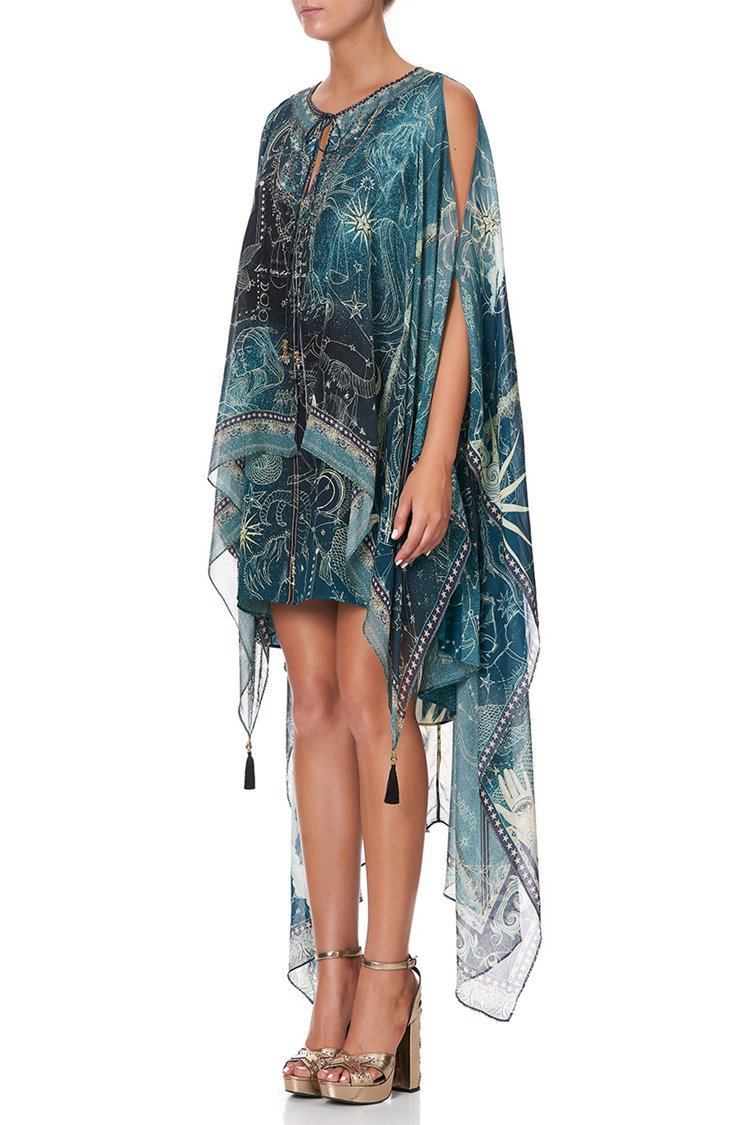 Long Sheer Overlay Dress in Into The Mystique