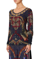 Long Sleeve Fitted Top in This Charming Woman