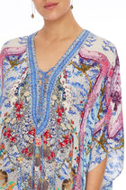 Short Lace Up Kaftan in Geisha Gateways