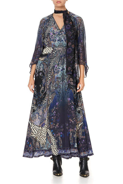 Wrap Dress w Neck Tie in Festival Express Dresses Camilla