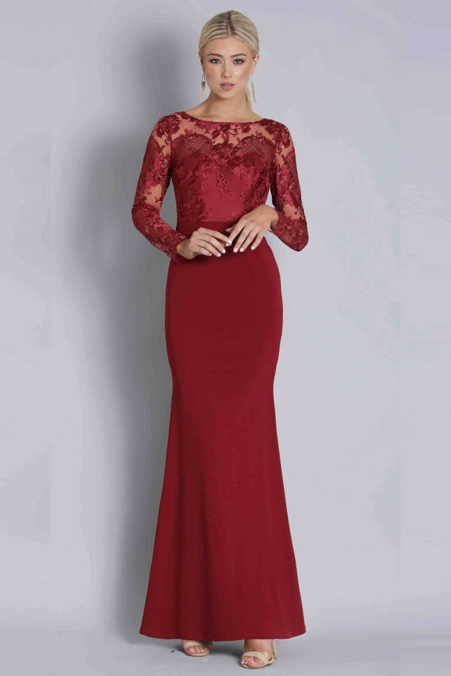 Shop Online Daisy Lace L/S Gown by Bariano  Frockaholics Dresses