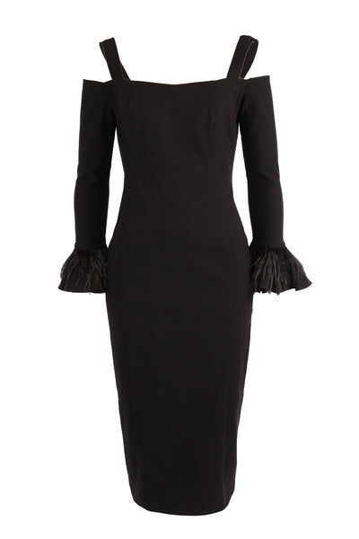 Zadie Midi Dress in Black Dresses Eileen Kirby