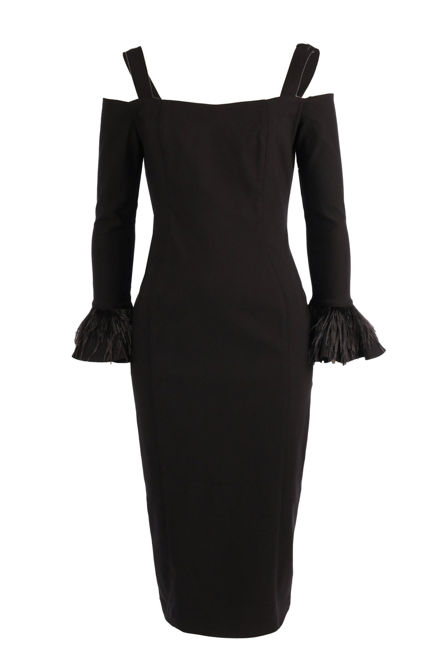 Zadie Midi Dress in Black