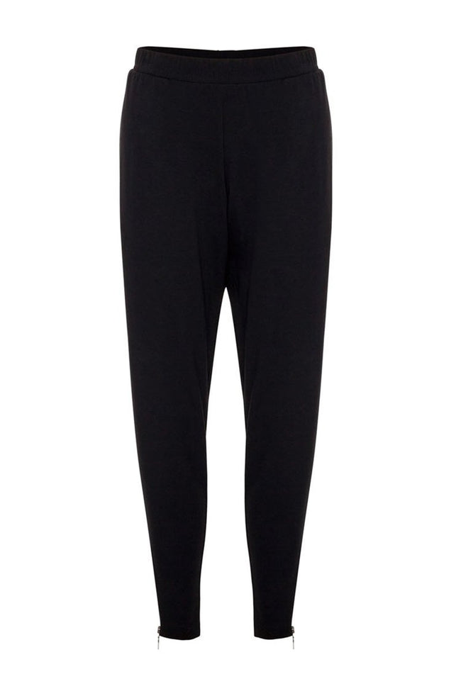 Zip Stiletto Pant in Black