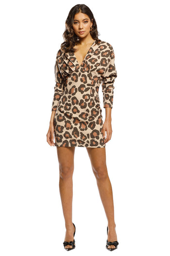 Feline Dress in Caramel