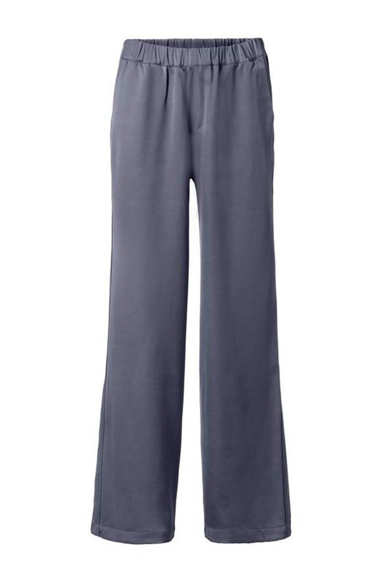 Flowy Wide Leg Pant in Antracite Blue