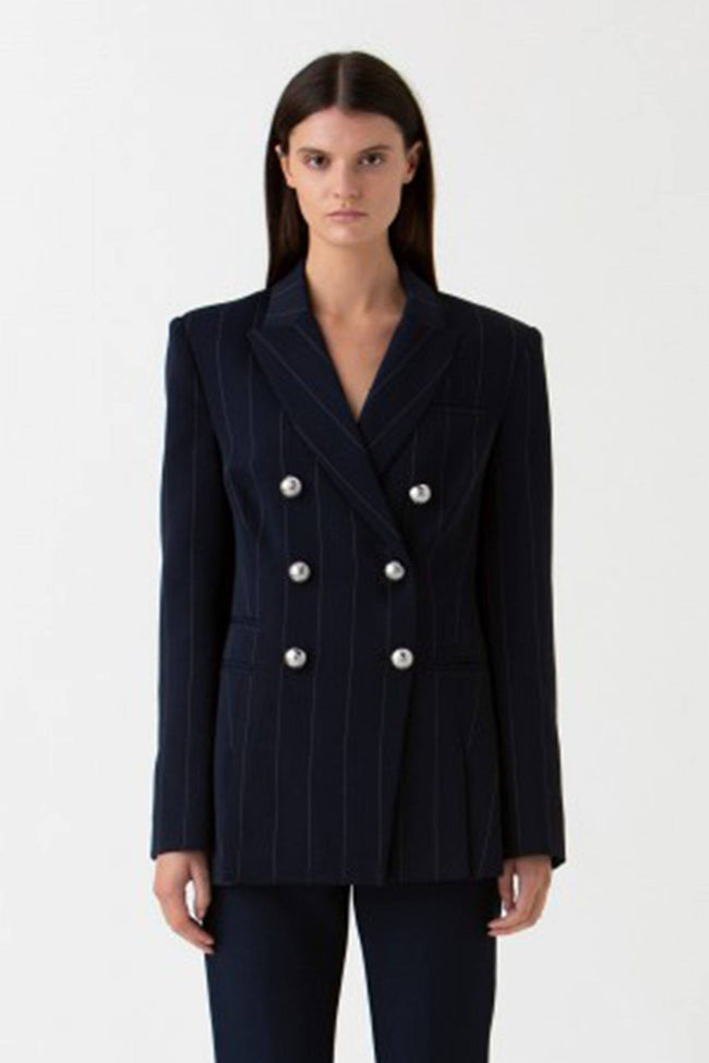 Apollo Jacket in Navy Pinstripe