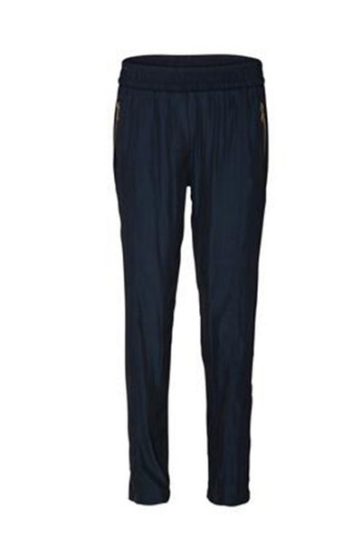 Soft Zip Pant in French Navy Bottoms Mela Purdie