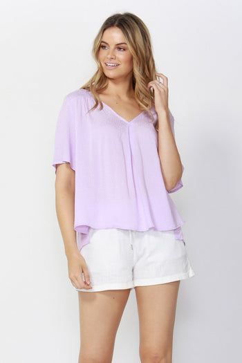 Fleeting Moments Blouse in Lavender