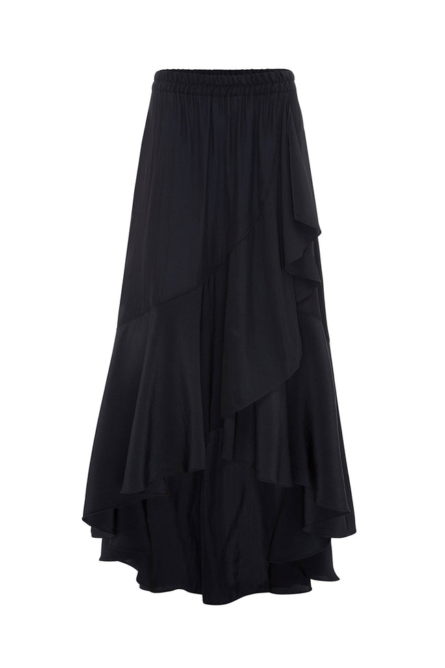 Maxi Wrap Scroll Skirt