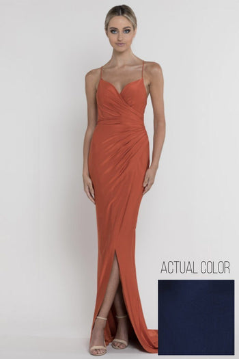 Rose Wrap Draped Gown