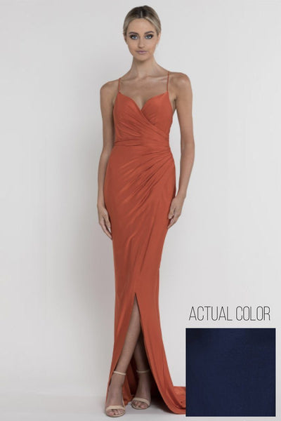 Rose Wrap Draped Gown Dresses Bariano