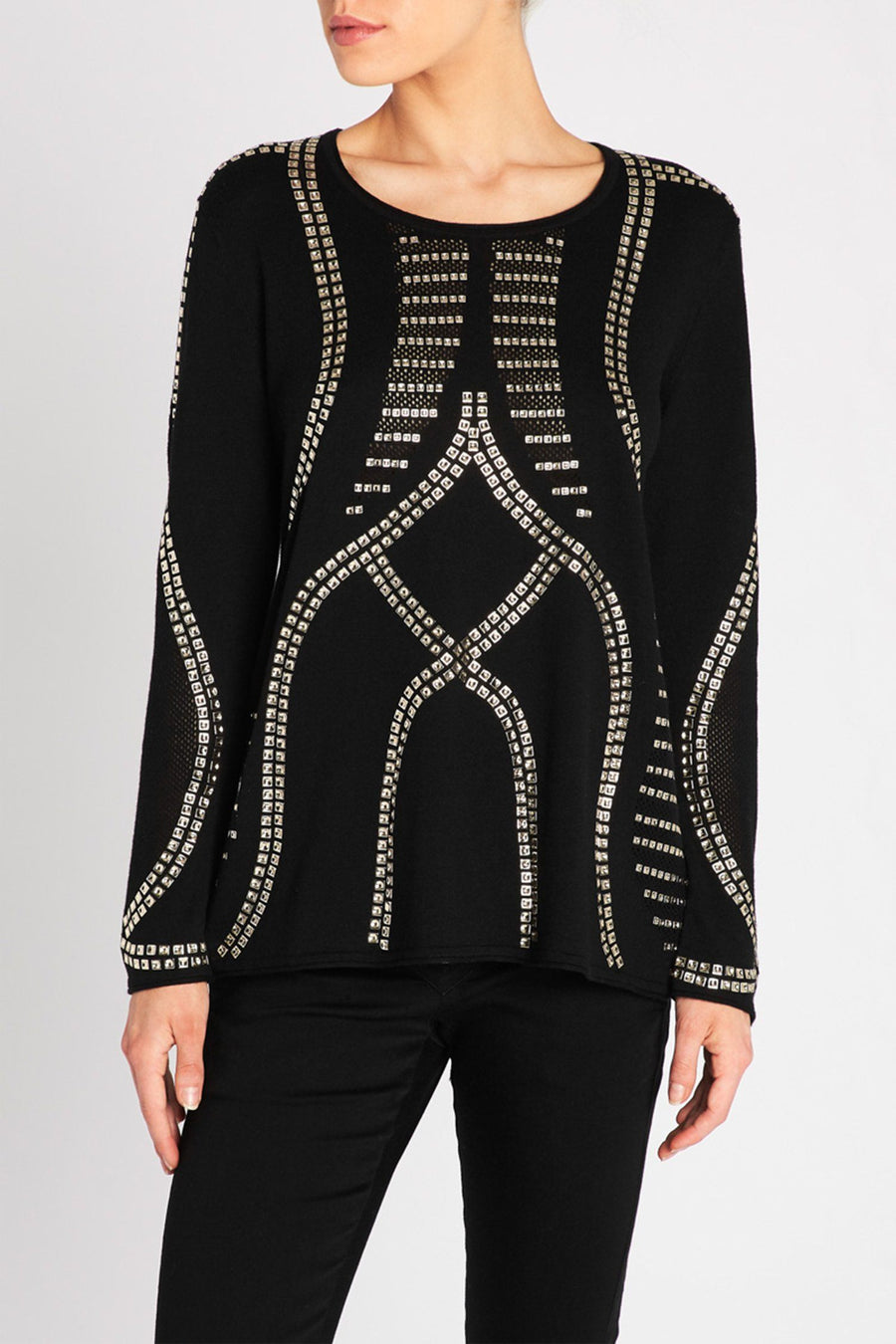 Shout Embellished Knit