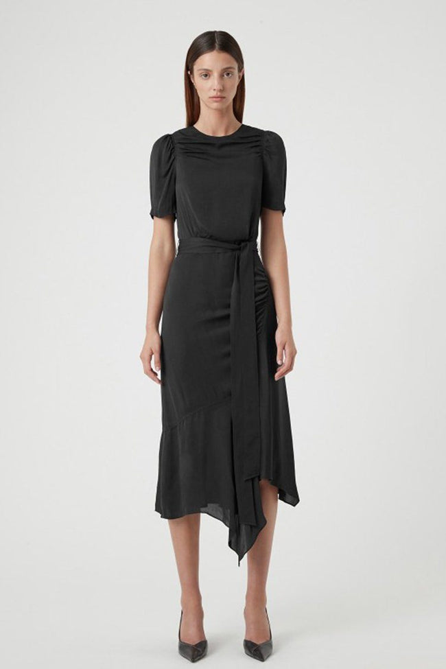 Loren Midi Dress in Black