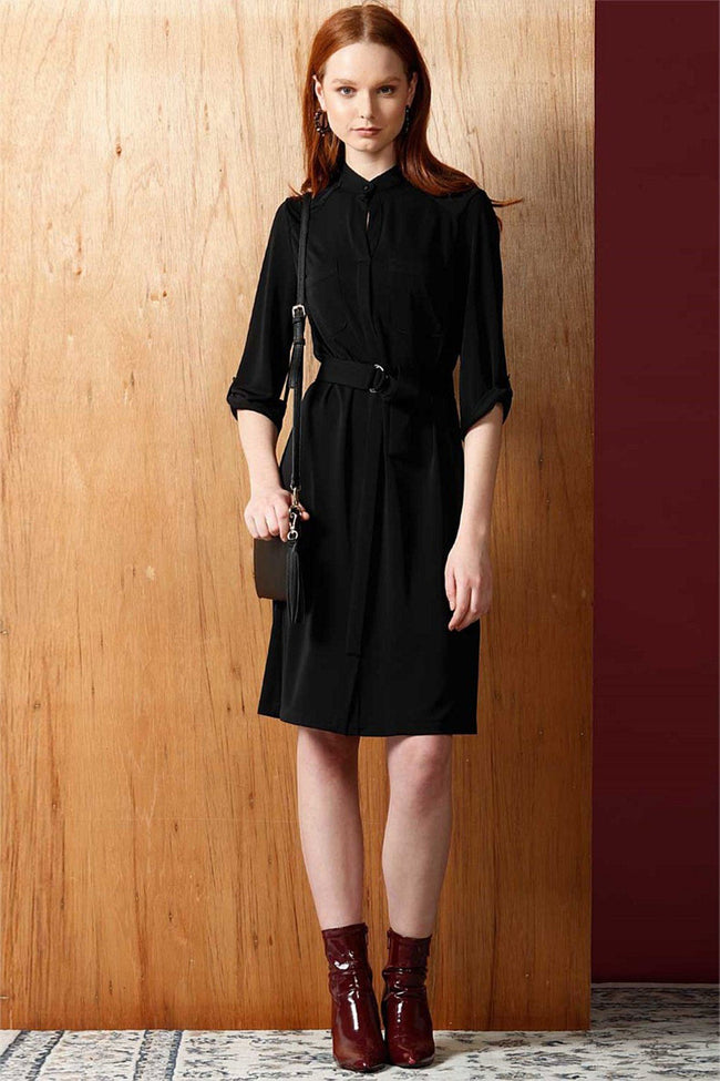 Fluid Jersey Shirtmaker Dress