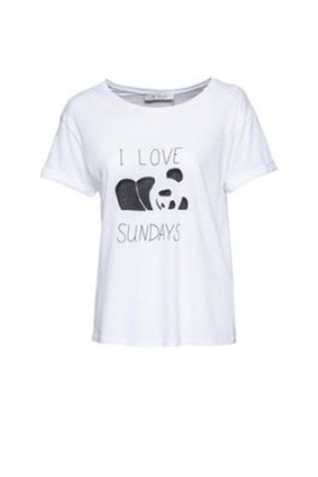 T-Shirt Panda in White