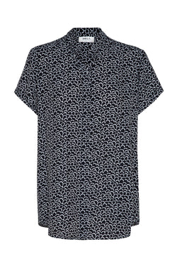 Stand Collar Top in Petal Print