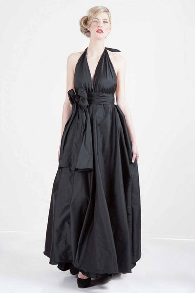 Alida Gown in Black | Chiffon Dresses Lucy Laurita - Leiela