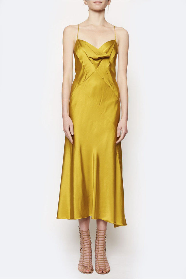 Muse Moment Bias Dress in Chartreuse | FINAL SALE