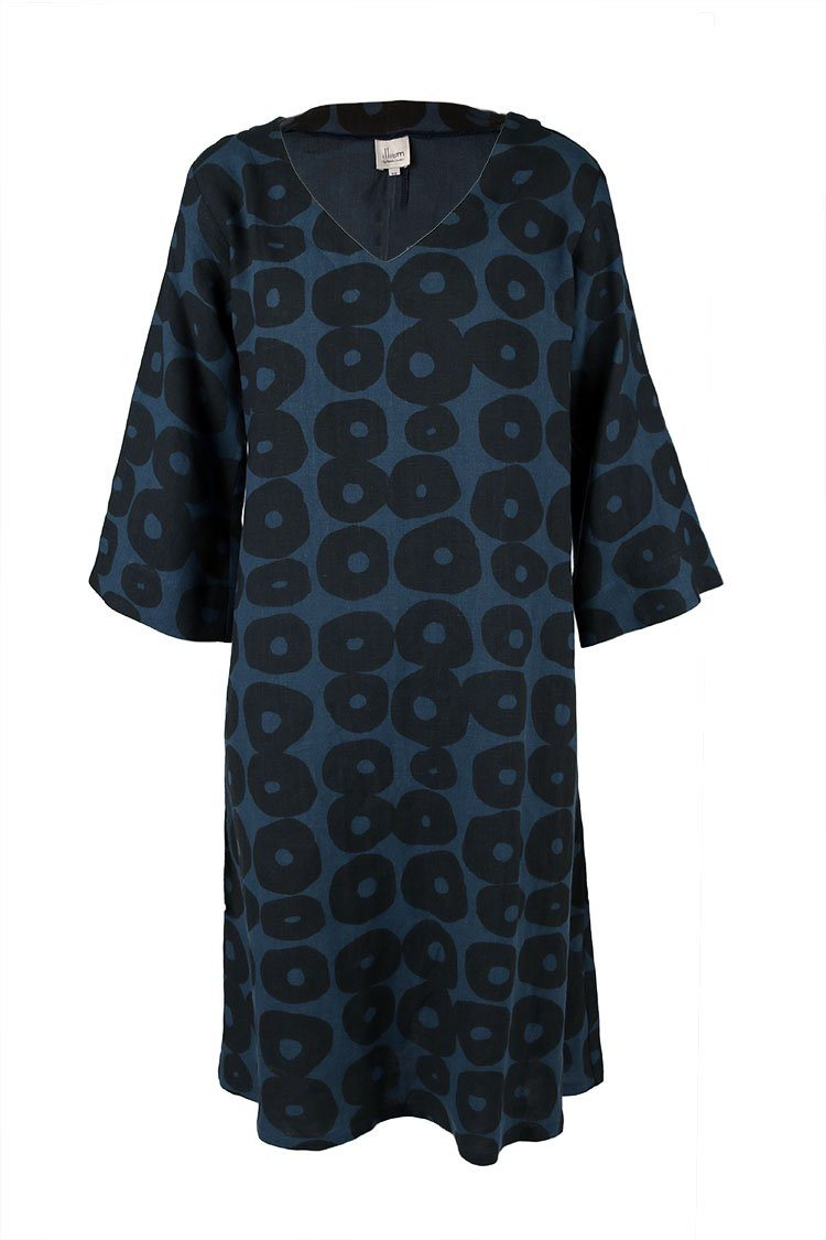 Indigo Linen Dress | FINAL SALE